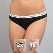Calvin Klein 3 Pack Bikinis - Slip černé / bílé