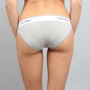Calvin Klein Women's Bikini - Slip C/O šedé / bílé / černé