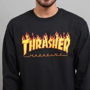 Thrasher Flame Logo LS Tee schwarz