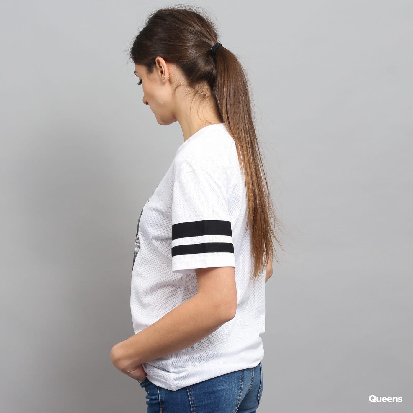 Urban Classics Ladies 2Pac Stripes Tee weiß