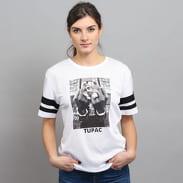 Urban Classics Ladies 2Pac Stripes Tee biele