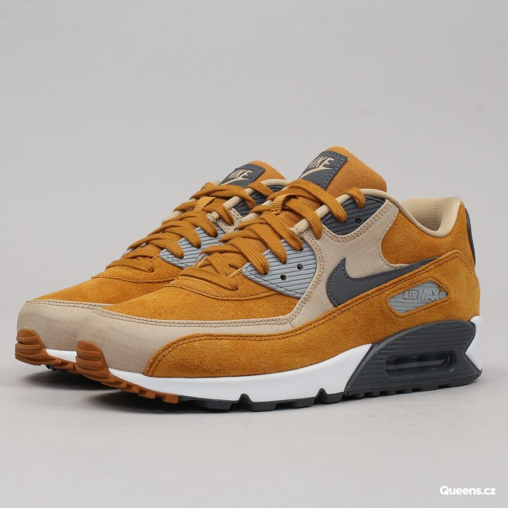 Nike Air Max 90 Premium desert ochre / dark grey - linen