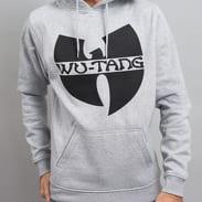 WU WEAR Logo Hoody melange šedá