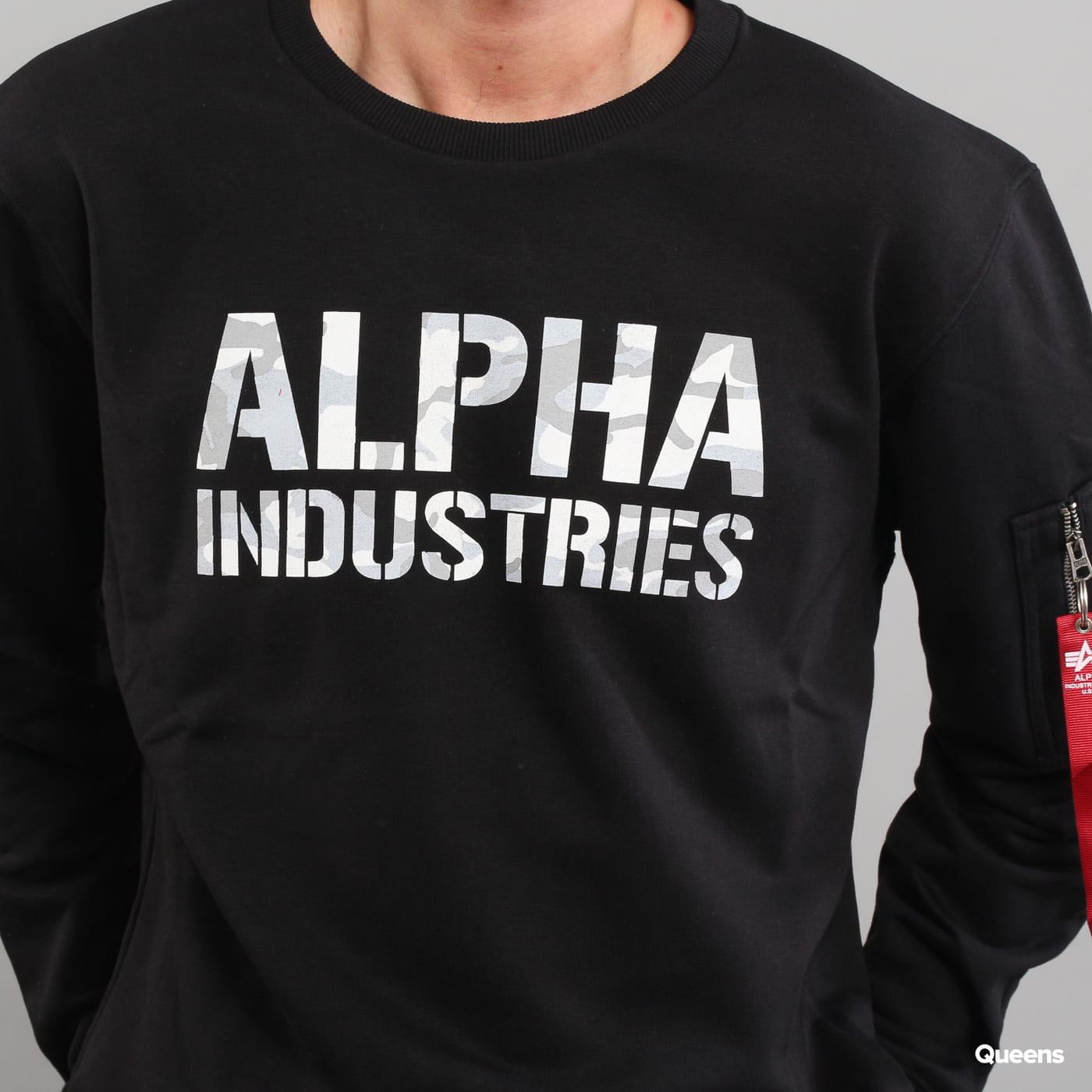 Alpha Industries Camo Print Sweat black / camo gray