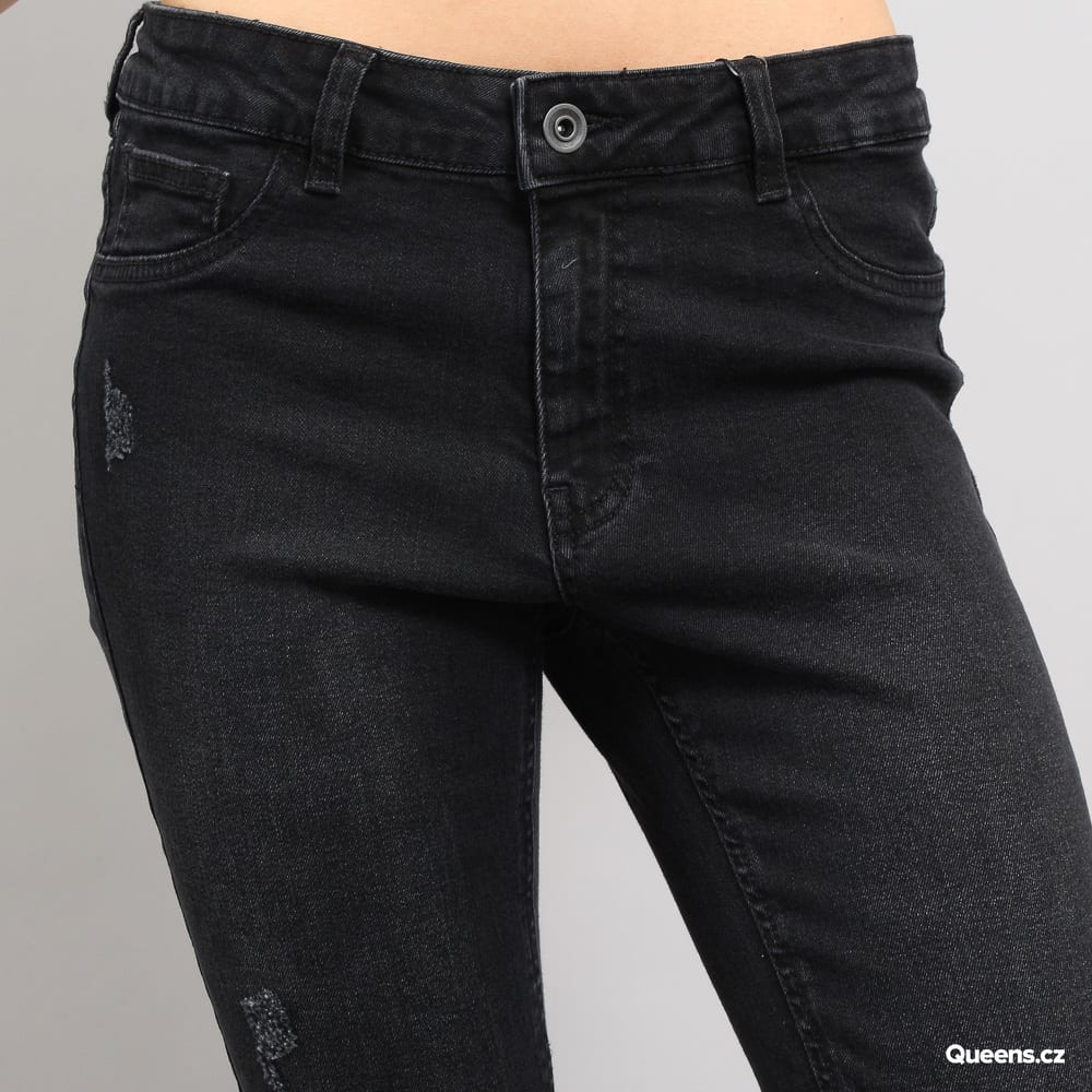 Urban Classics Ladies High Waist Skinny Denim Pants black washed