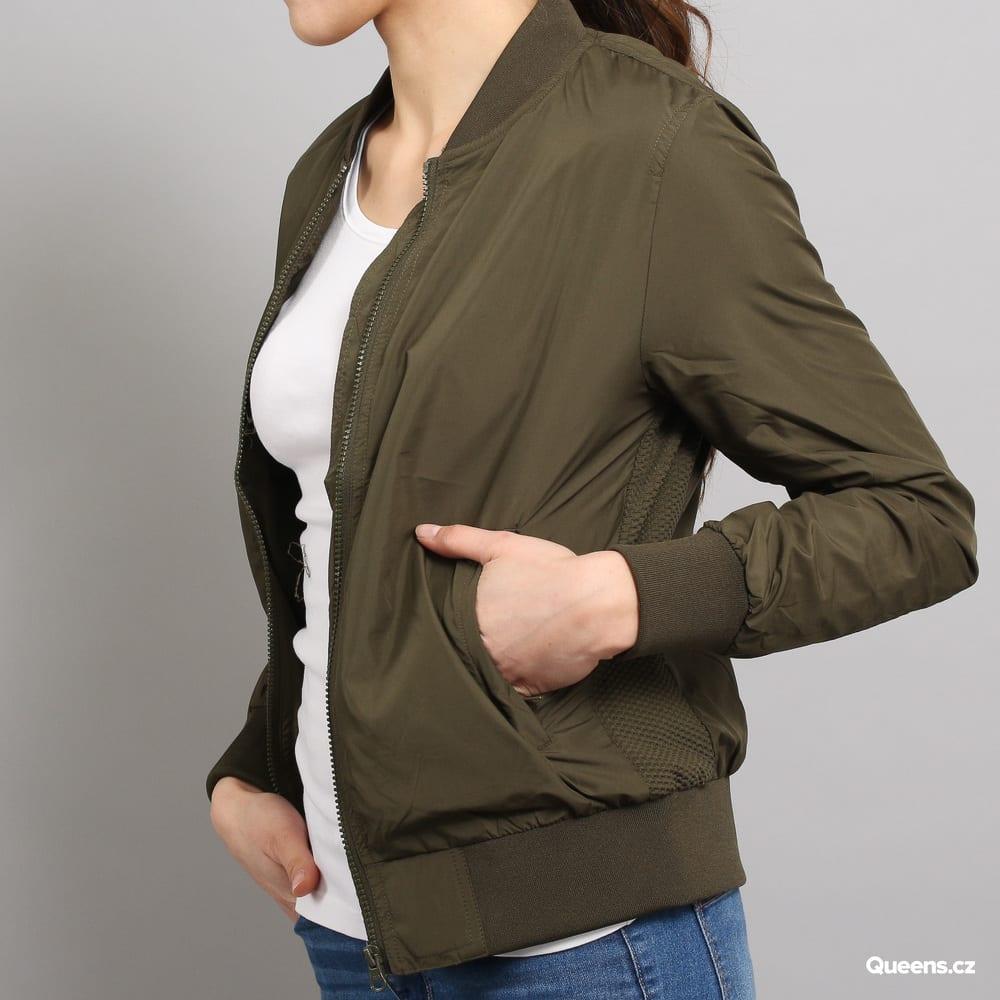 Urban Classics Ladies Light Bomber Jacket dunkeloliv