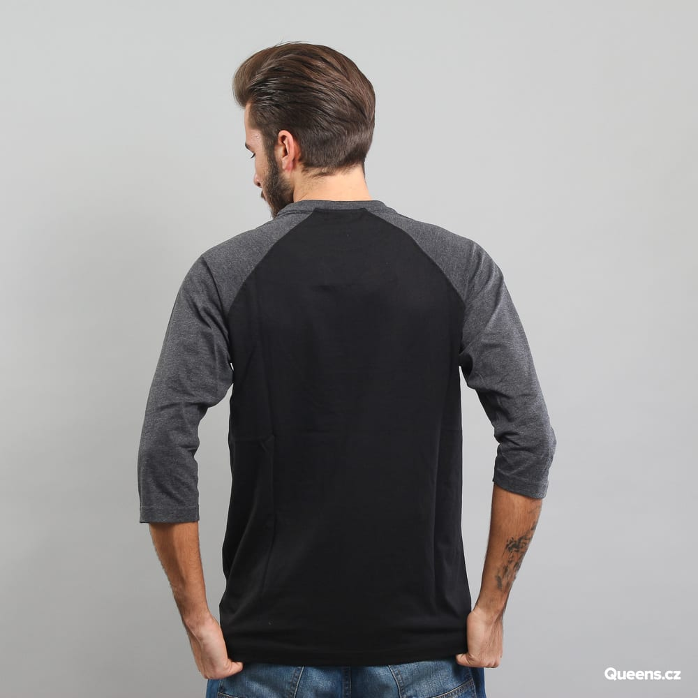Urban Classics Contrast 3/4 Sleeve Raglan Tee black / melange dark gray