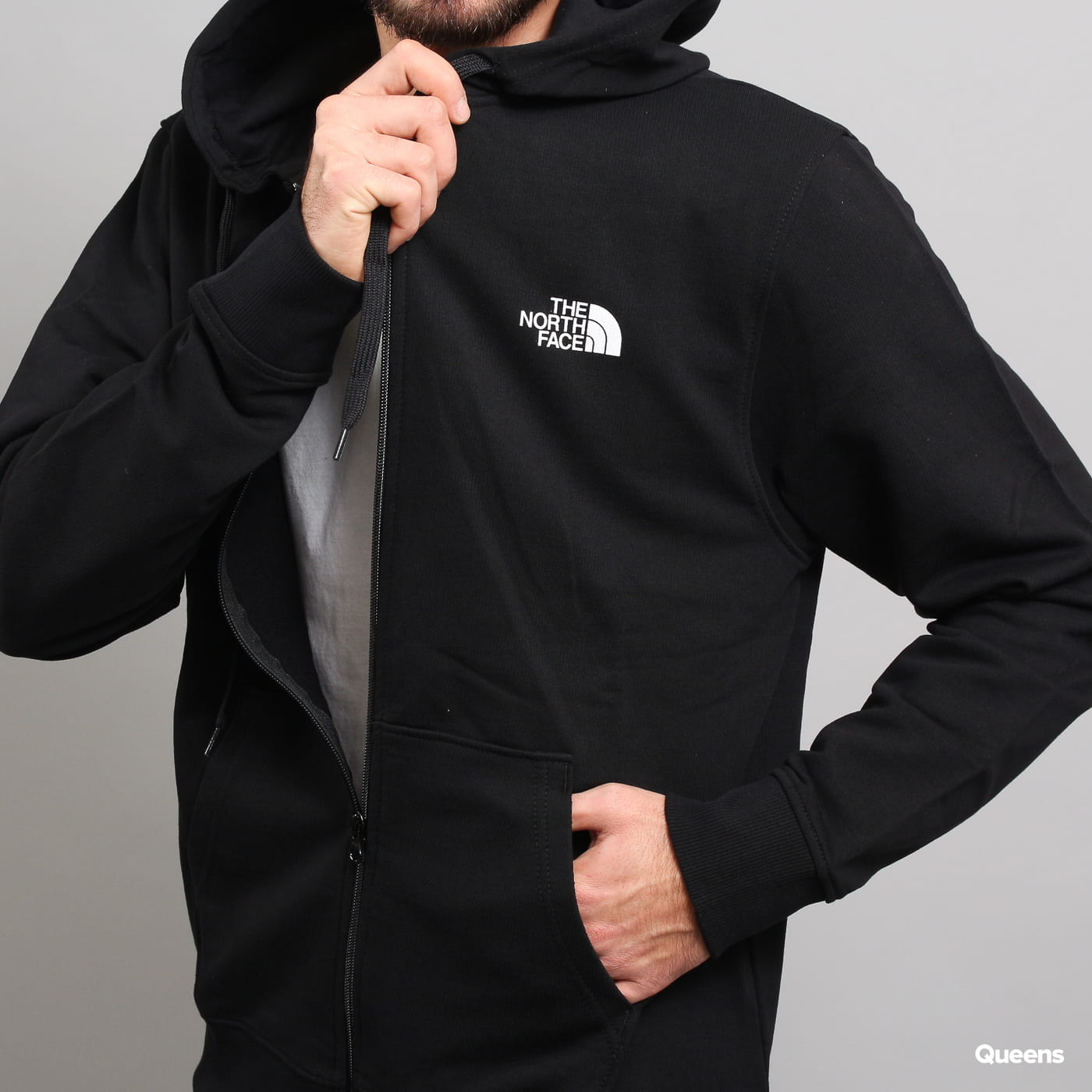 The North Face M Open Gate Full Zip Hoodie black