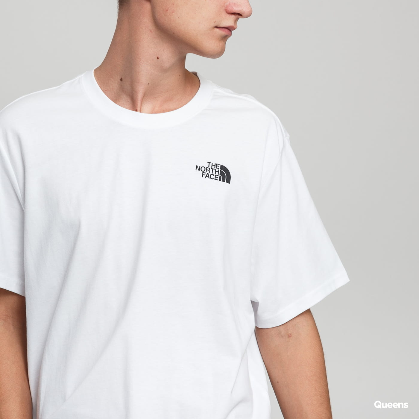 The North Face M S/S Red Box Tee biele