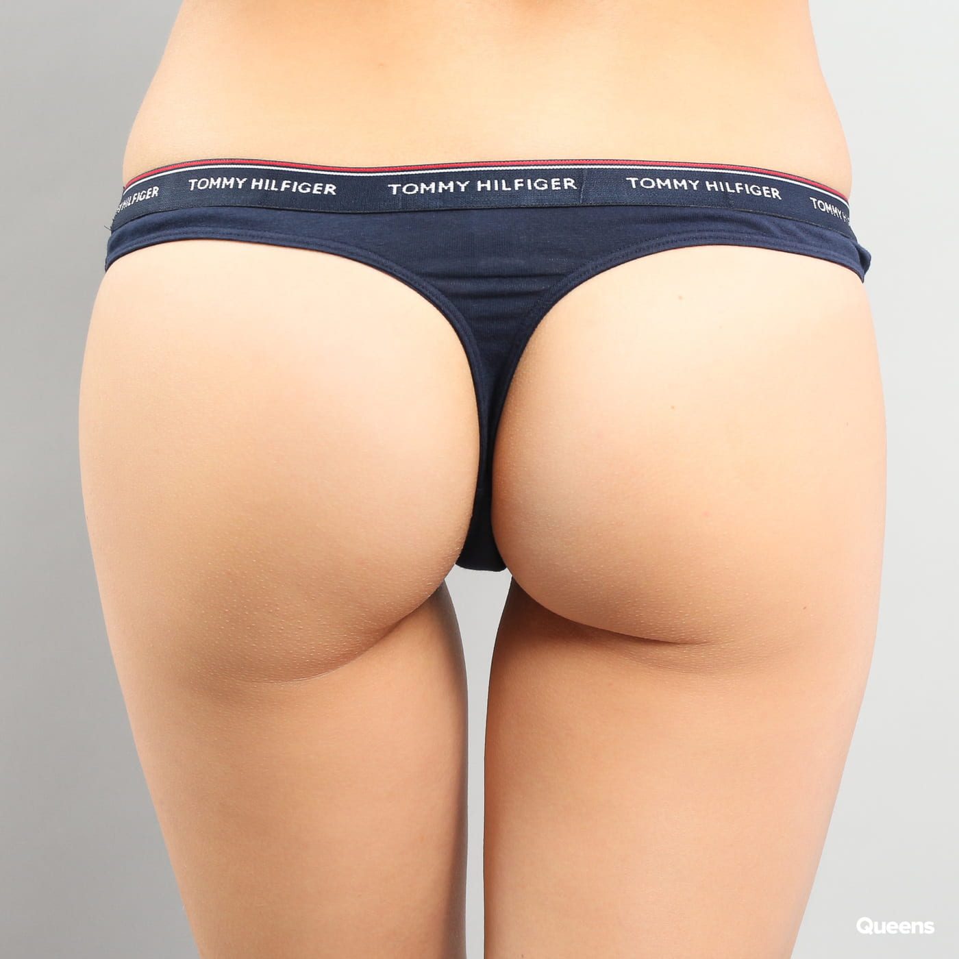 Tommy Hilfiger 3 Pack Thong C/O navy