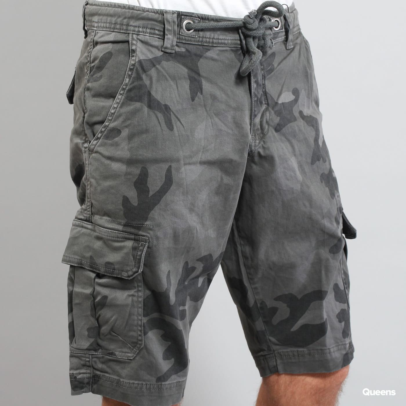 Urban Classics Camo Cargo Shorts dunkelgrau camo