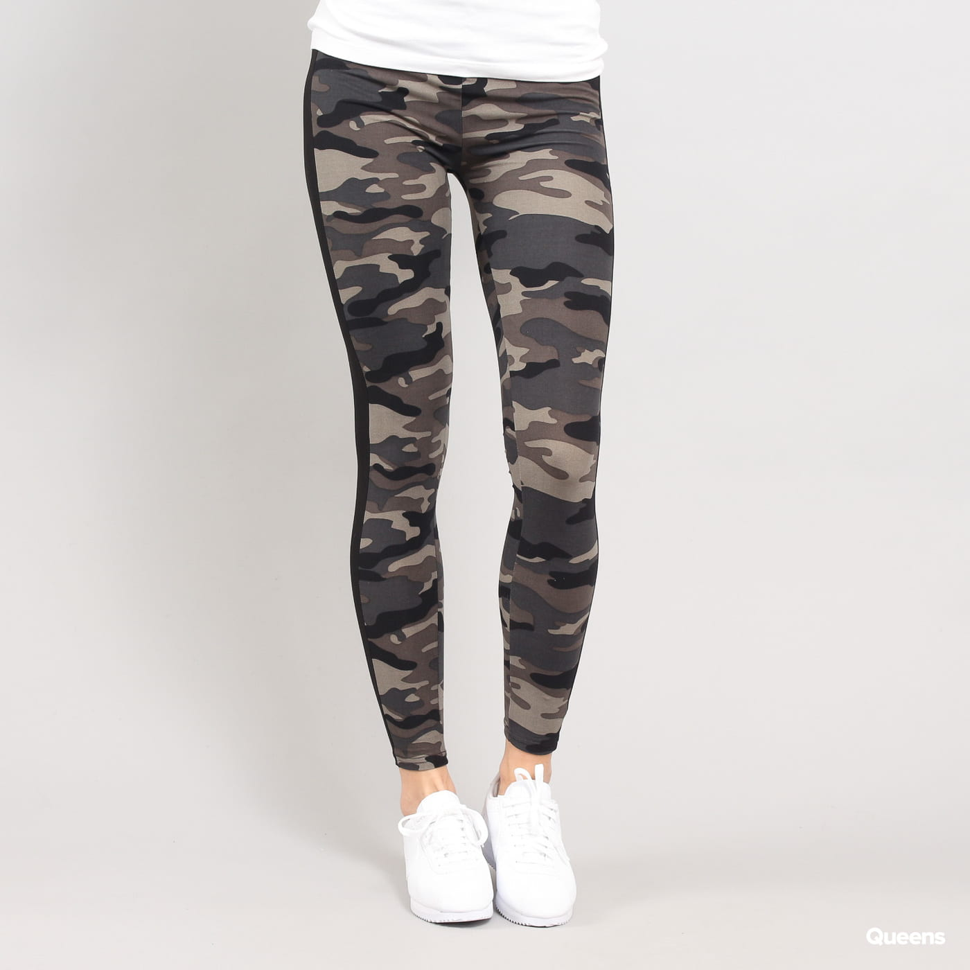 Urban Classics Ladies Camo Stripe Leggings camo Grau