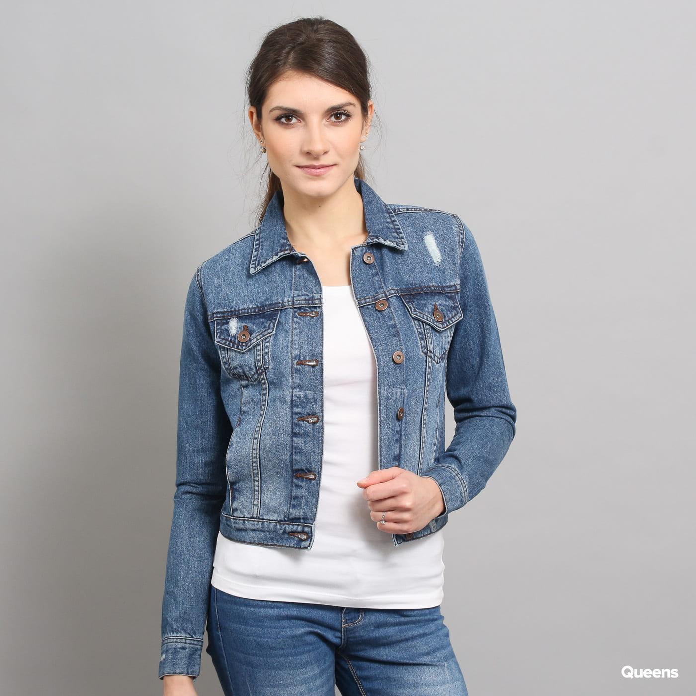 Urban Classics Ladies Denim Jacket ocean blue