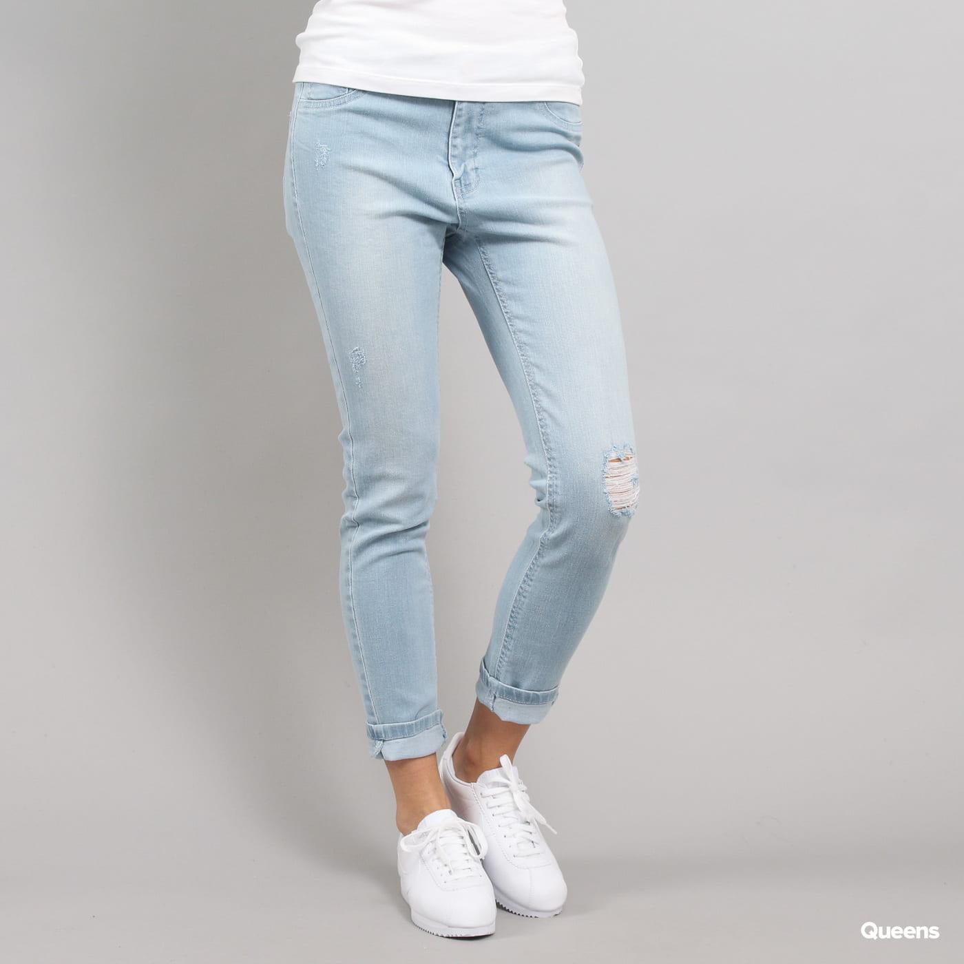 Urban Classics Ladies High Waist Skinny Denim Pants light blue
