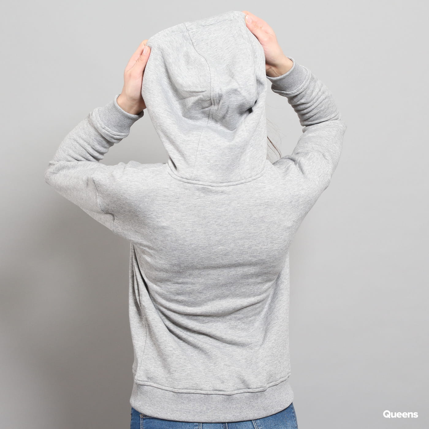 Urban Classics Ladies Hoody grey melange