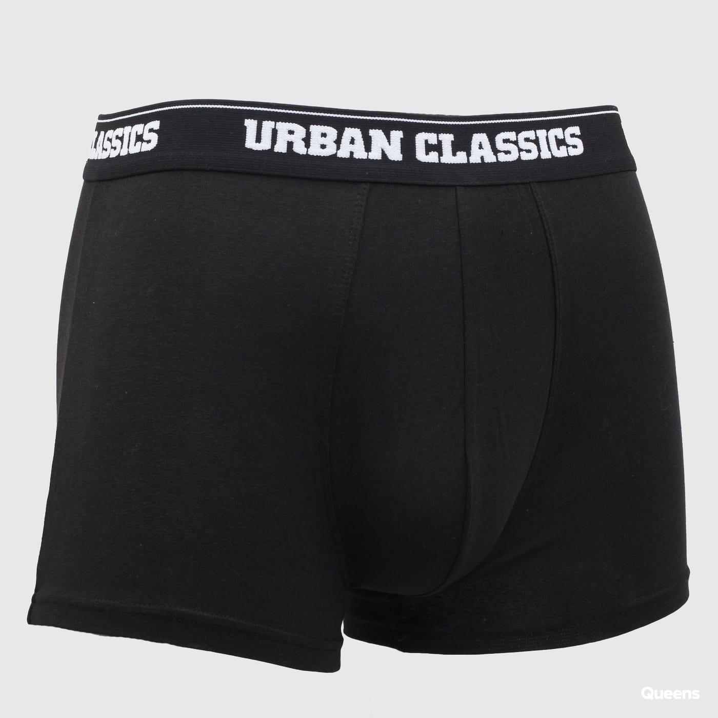 Urban Classics Modal Boxer Shorts Double-Pack čierne