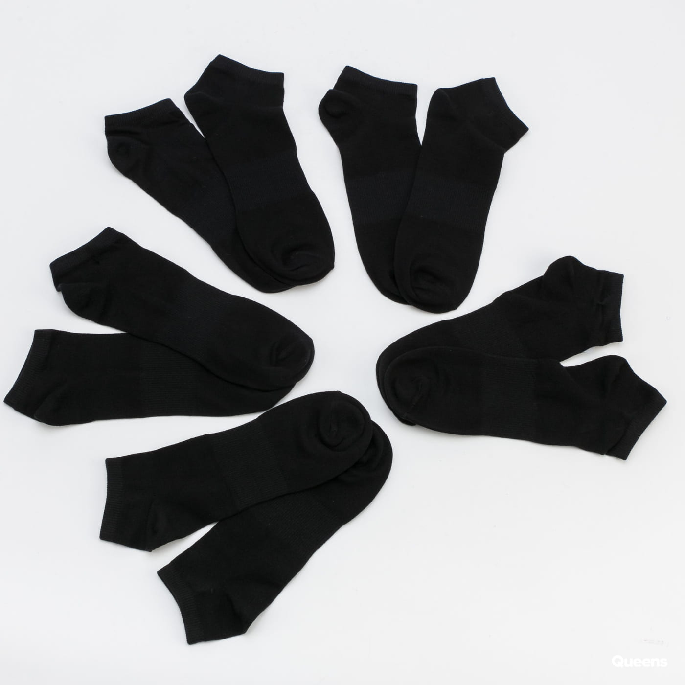 Urban Classics No Show Socks 5-Pack čierne