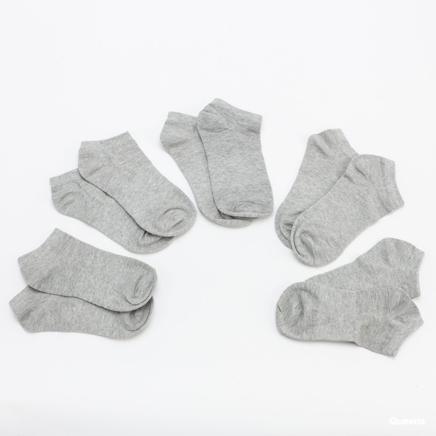 Urban Classics No Show Socks 5-Pack grau