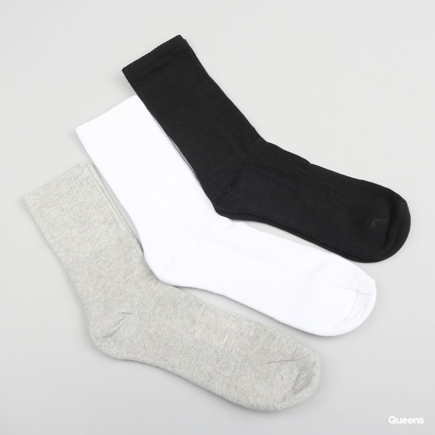 Urban Classics Sport Socks 3-Pack schwarz / Weiß / Grau