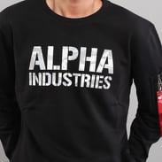 Alpha Industries Camo Print Sweat čierna / camo šedá