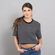 Urban Classics Ladies Short Striped Oversized Tee černé / bílé