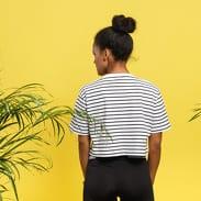 Urban Classics Ladies Short Striped Oversized Tee bílé / černé