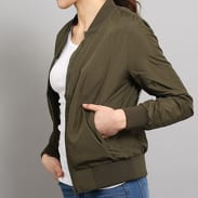 Urban Classics Ladies Light Bomber Jacket tmavo olivová