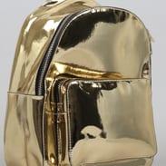 Urban Classics Midi Metallic Backpack zlatý
