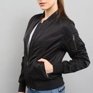 Urban Classics Ladies Nylon Twill Bomber Jacket černá