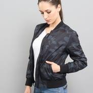 Urban Classics Ladies Light Bomber Jacket Camo camo tmavě šedá / černá