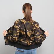 Urban Classics Ladies Light Bomber Jacket Camo camo zelená