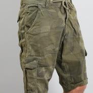 Urban Classics Camo Cargo Shorts camo zelené