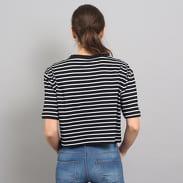 Urban Classics Ladies Short Striped Oversized Tee čierne / biele