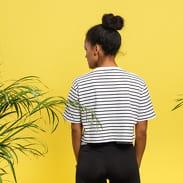 Urban Classics Ladies Short Striped Oversized Tee biele / čierne