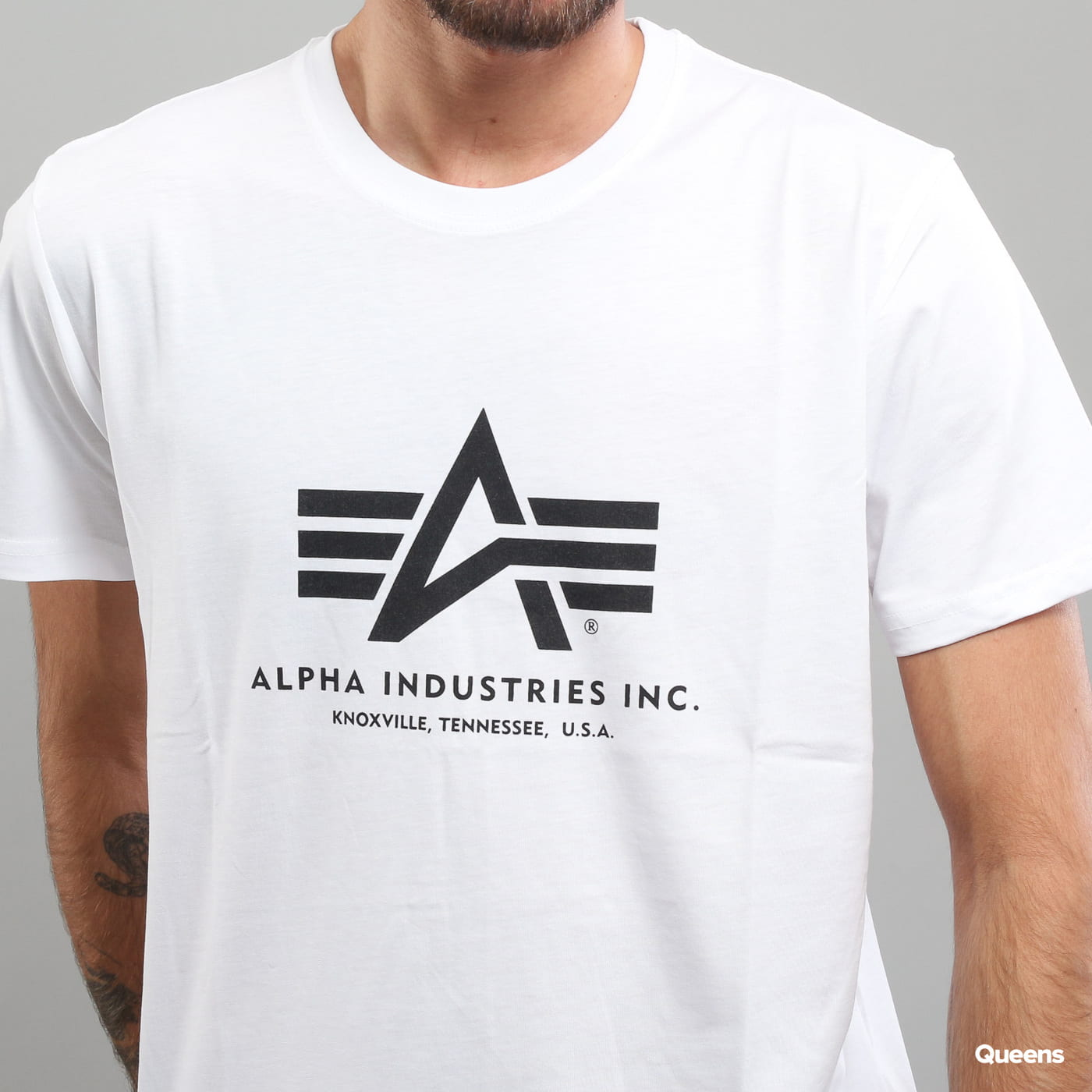 Alpha Industries Basic Tee white