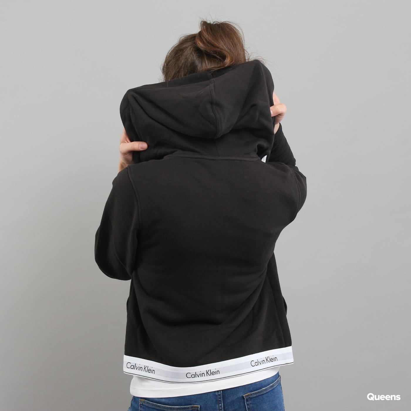 Calvin Klein Top Hoodie Full Zip C/O schwarz
