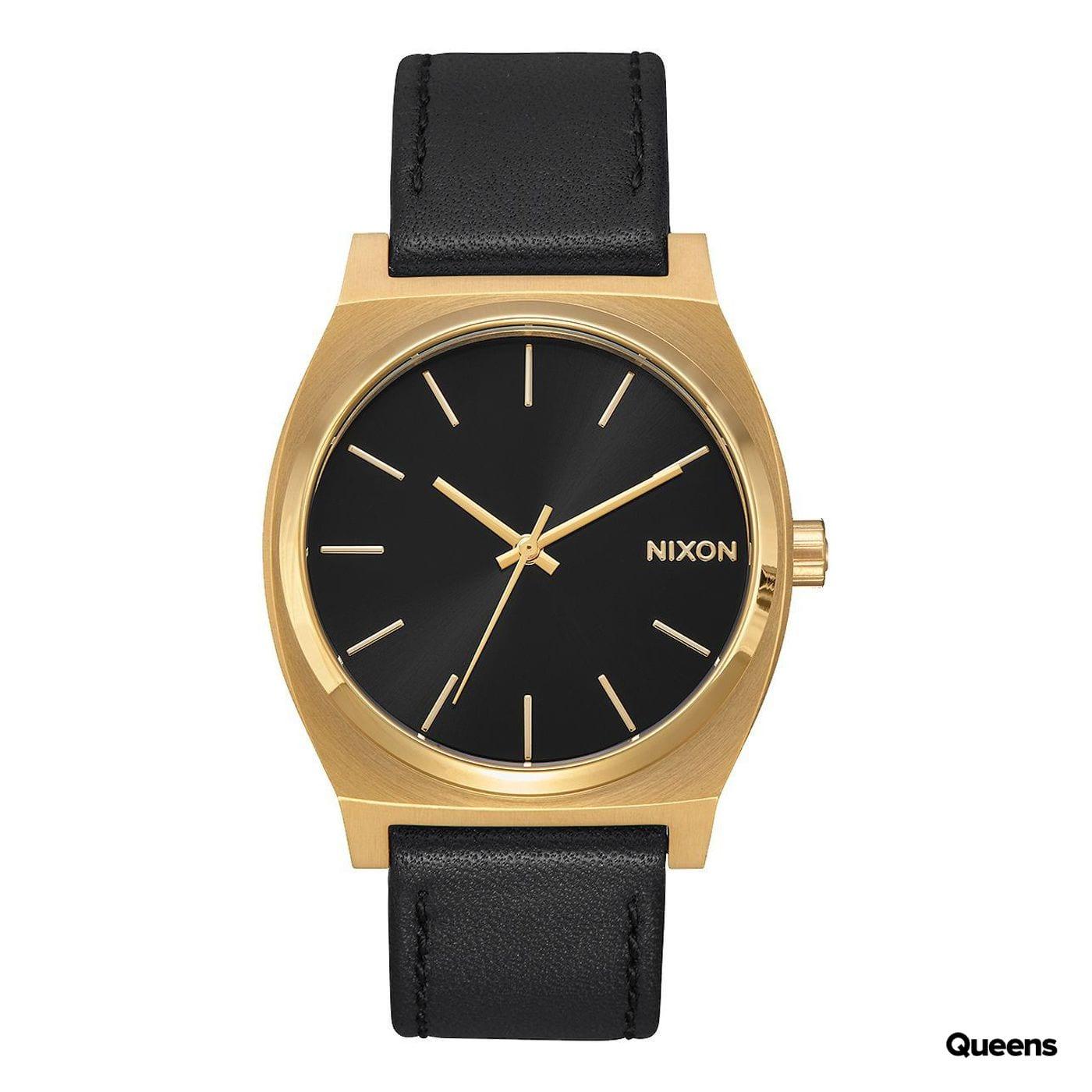 Nixon Time Teller čierne / zlaté