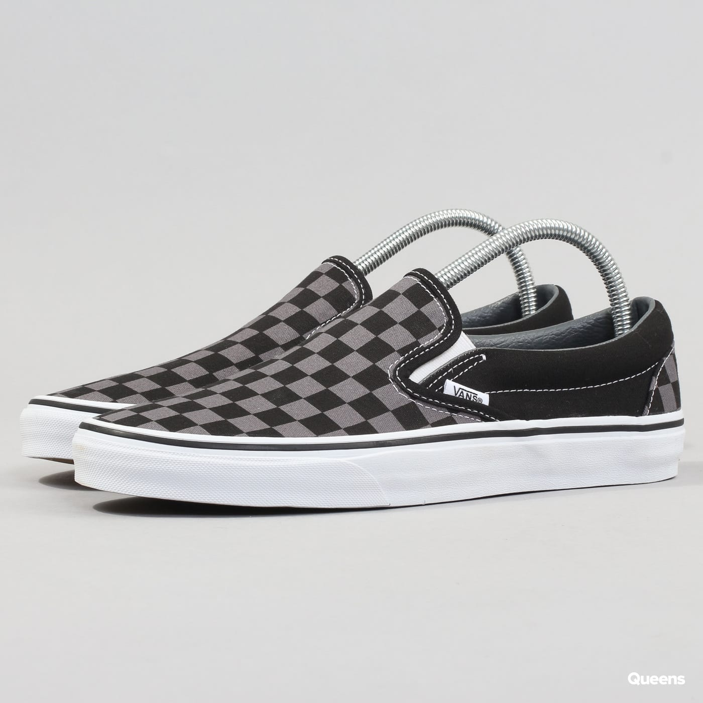 Vans Classic Slip - On black / pewter checkerboard