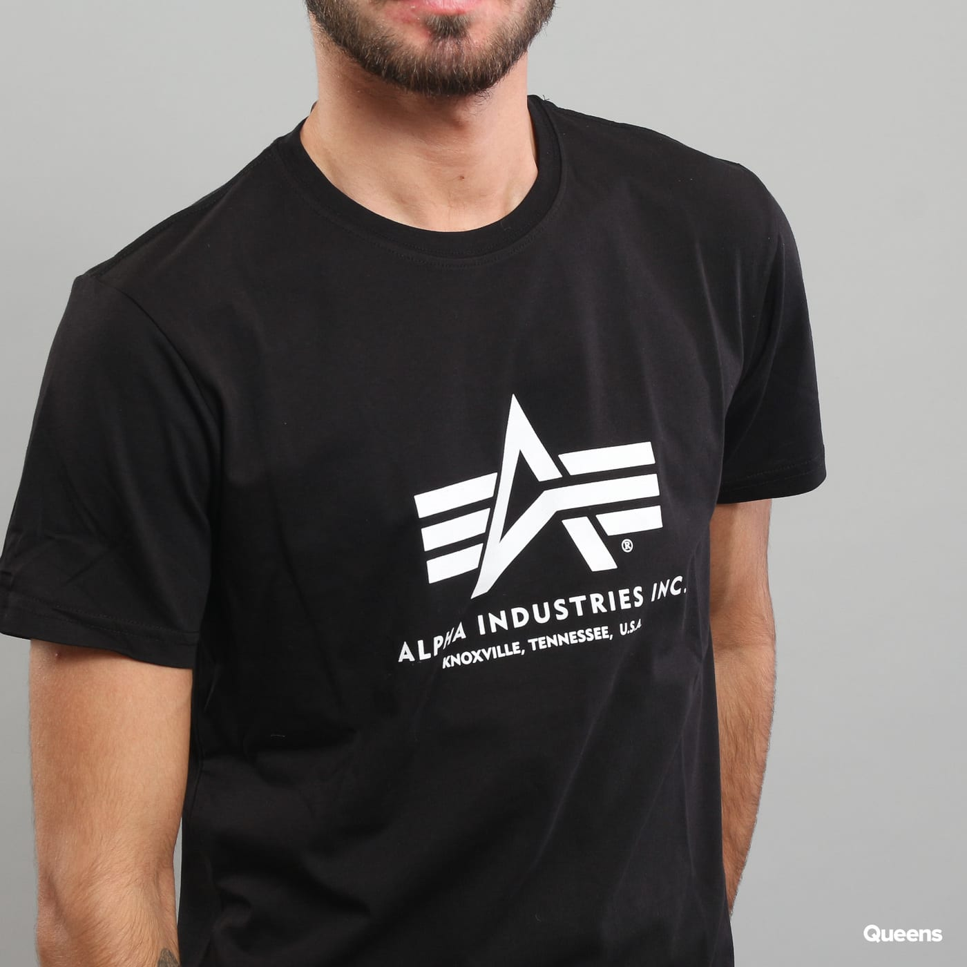 Alpha Industries Basic Tee čierne