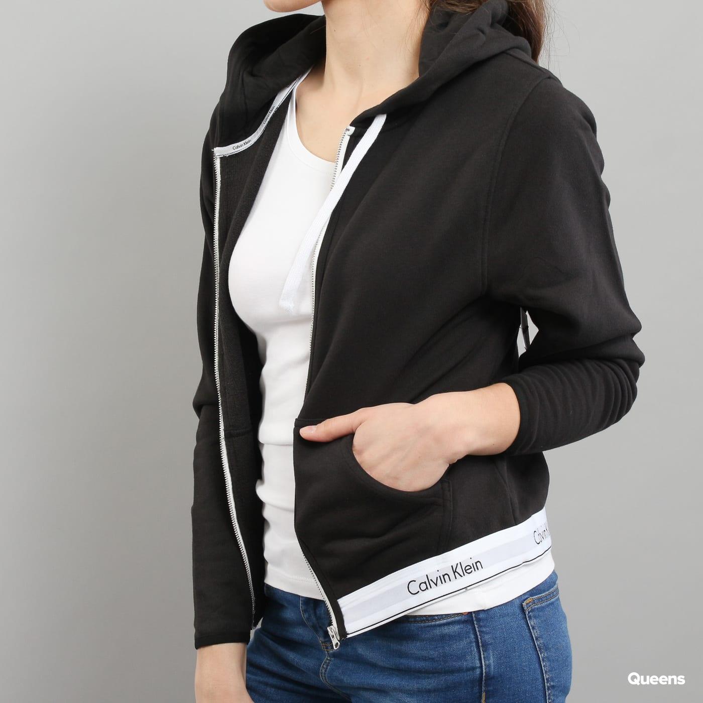 Calvin Klein Top Hoodie Full Zip C/O čierna