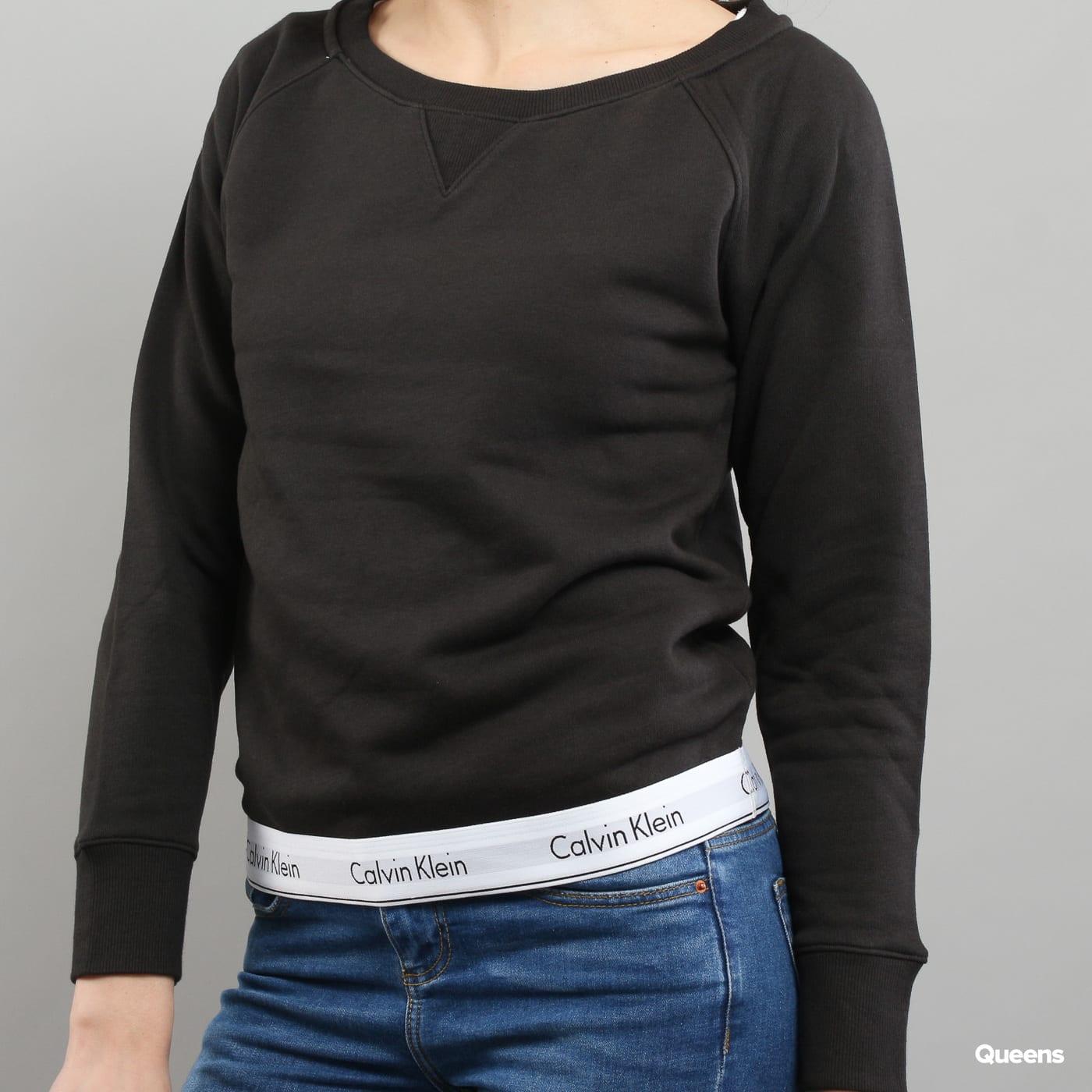 Calvin Klein Top Sweatshirt Long Sleeve C/O čierna