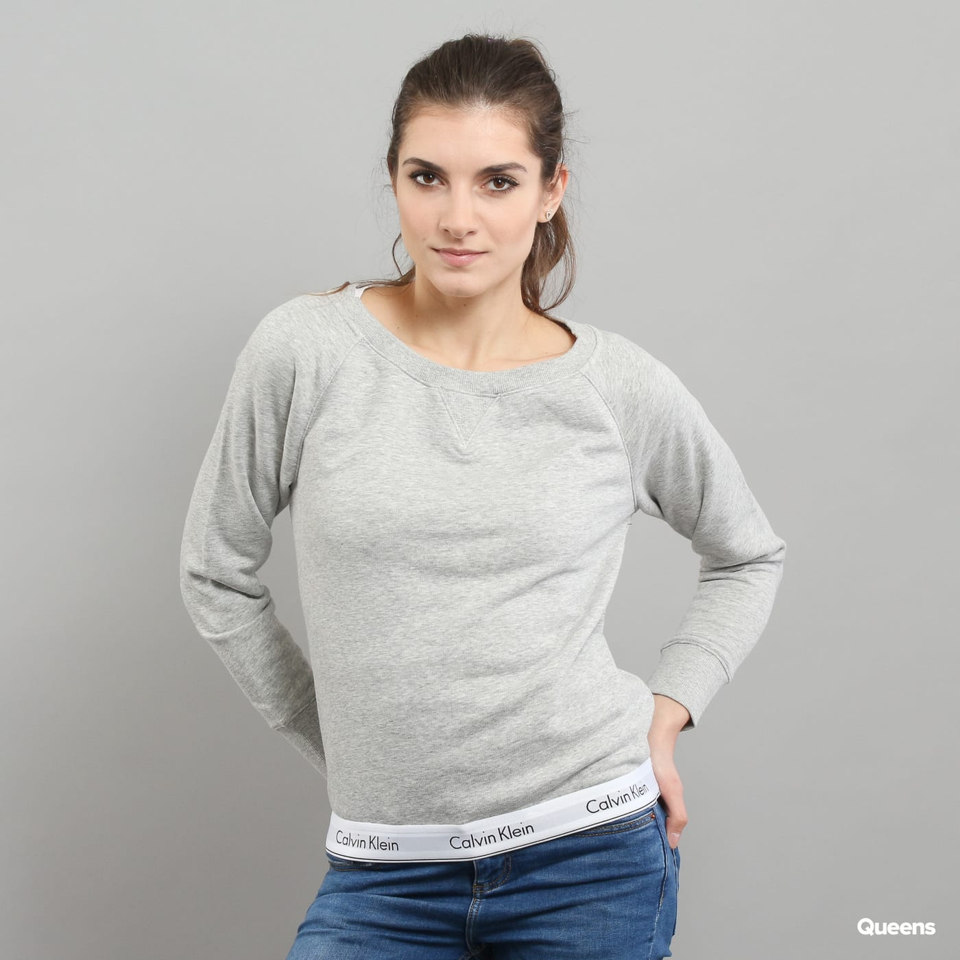 Calvin Klein Top Sweatshirt Long Sleeve C/O melange gray