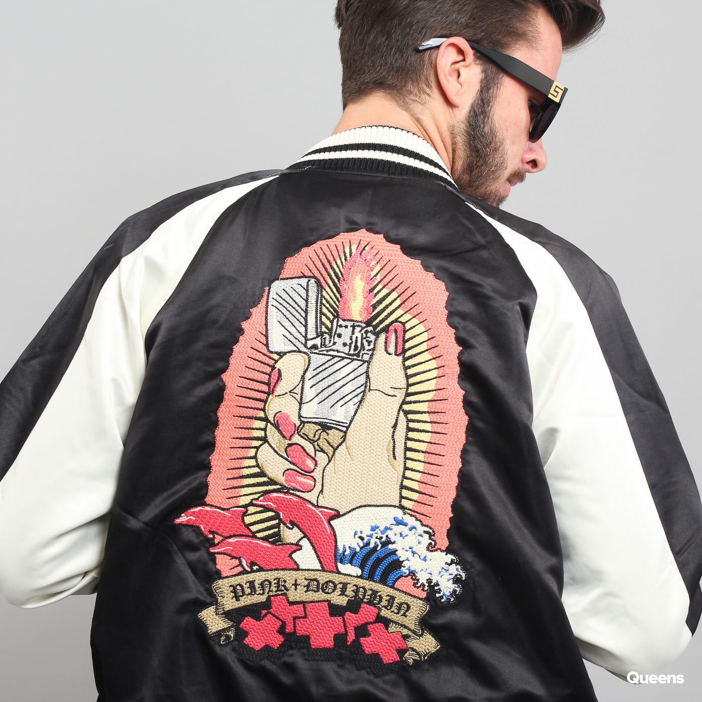 Pink Dolphin Reversible Souvenir Jacket čierna / krémová