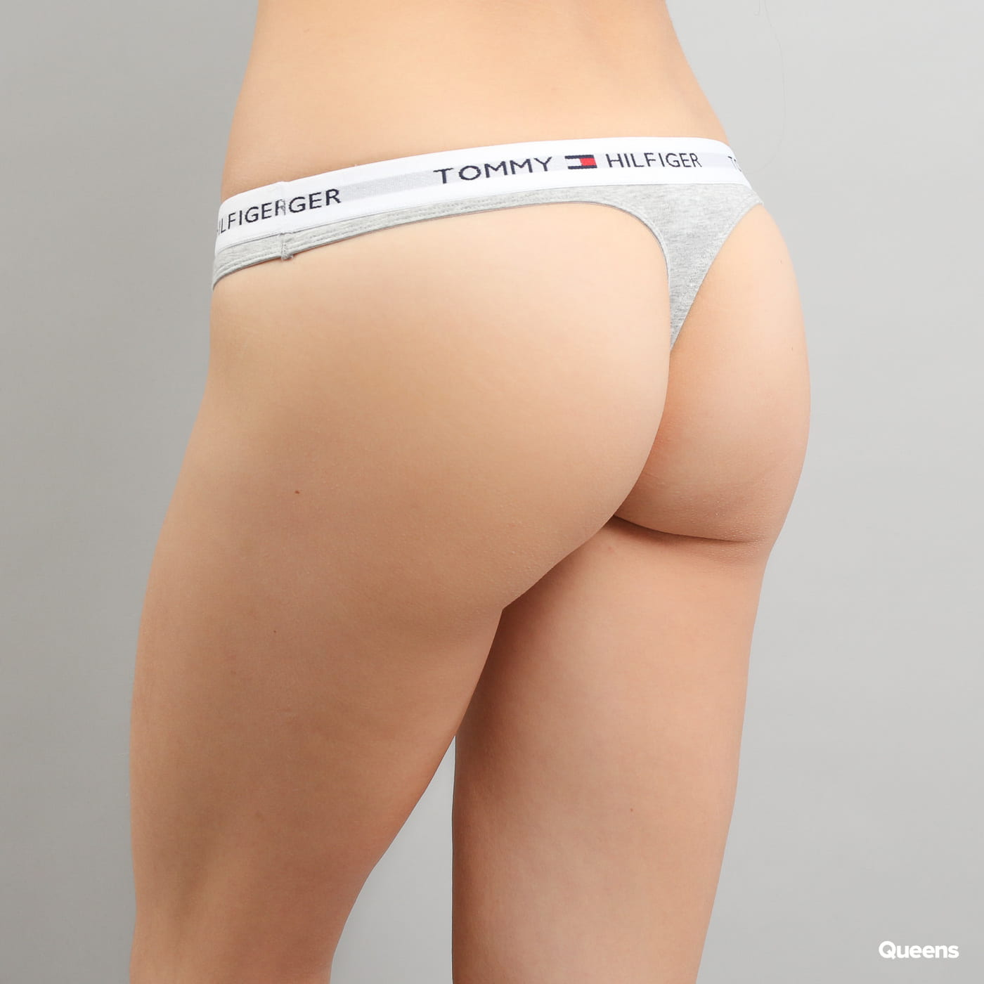 Tommy Hilfiger Cotton Thong Iconic C/O grau melange