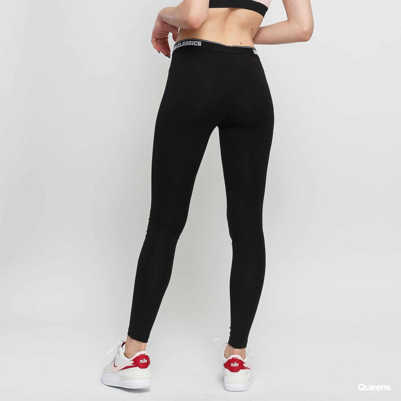 Urban Classics Ladies Logo Leggings čierne