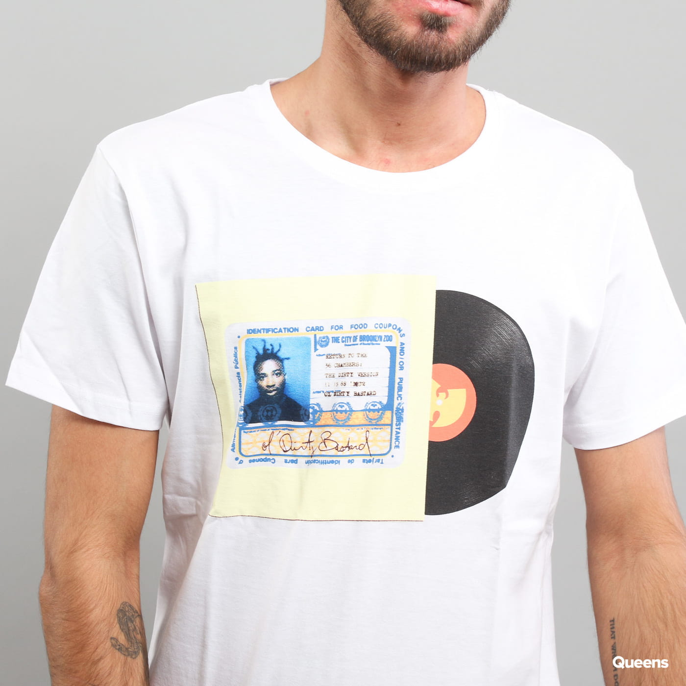 WU WEAR ID Card Tee biele