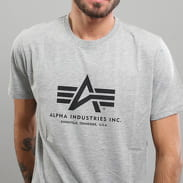 Alpha Industries Basic Tee melange šedé