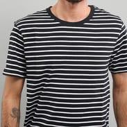 Urban Classics Striped Tee schwarz / weiß