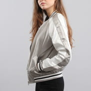 Urban Classics Ladies 3-Tone Souvenir Jacket stříbrná / bílá