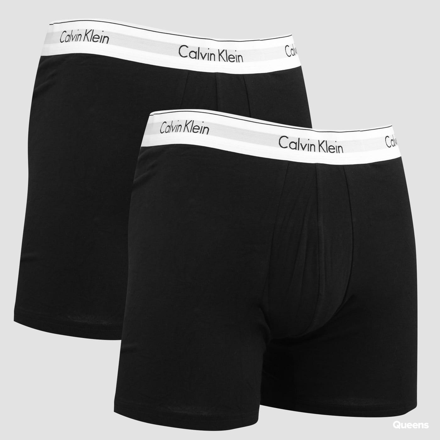 Calvin Klein 2Pack Boxer Briefs Modern Cotton C/O čierne